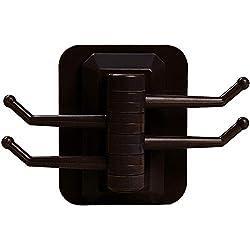 IZHH Meuble Salle de Bain Support de Salle de Bain Cuisine Rotatif 4 Crochets , Simple et Pratique sans Porte-Serviettes sans Rail