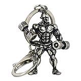 Newin Star Métal Keychain Homme Fort Haltère Keychain Hommes Fitness Culturisme Porte-clés pour Les clés de Voiture