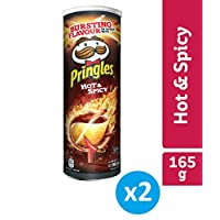 Pringles Hot and Spicy Flavored Chips, 165 grams (Pack of 2 cans)