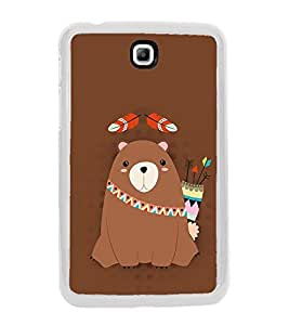 Warrior Bear 2D Hard Polycarbonate Designer Back Case Cover for Samsung Galaxy Tab 3 8.0 Wi-Fi T311/T315, Samsung Galaxy Tab 3 8.0 3G, Samsung Galaxy Tab 3 8.0 LTE