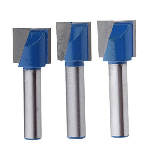 SM SunniMix 3pcs Nutfräser Fräser Nuter Freser CNC Gravur Holzbearbeitung, Zweischneidig, 8mm Schaft, Ø 15mm + 17mm+ 18mm