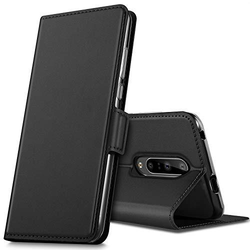 GEEMAI per Oneplus 7 PRO Cover, Flip Custodia Carte di Credito da Funzione Stand in PU Premium Protezione di Lunga Durata, per Oneplus 7 PRO Smartphone.(Nero)