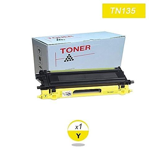 DOREE Tonerpatronen ersetzen für Brother TN-135 TN135 TN115 Gelb HL-4040CN,HL-4050CDN,HL-4050CDN,HL-4070CDW,DCP-9040CN,DCP-9042CDN,MFC-9440CN