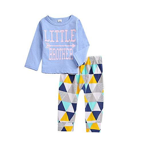 f0f20f3b2 FAMILIZO Conjunto Bebe 3Pcs Bebé Niño De Manga Larga Carta De Impresión  Camiseta Superior + Pantalones