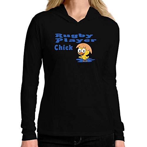 Idakoos Rugby Player Chick Damen Kapuze Langarm T-Shirt M -
