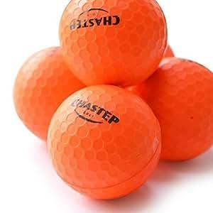 Chastep Practice Golf Balls, Indoor/Outdoor, Limited Flight, High Density Foam Ball 12 Count, Orange