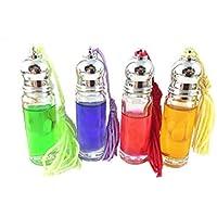 12pcs 5ml, Vetro trasparente essenziali profumo Roller