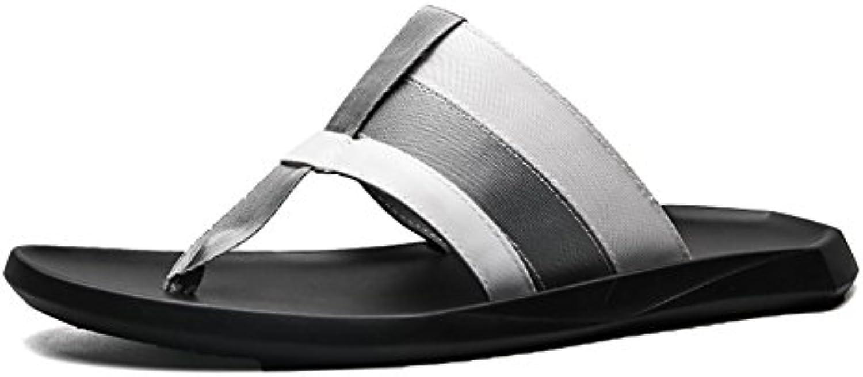 Tejidos Flip-flop Zapatillas al aire libre Hombre Sandalia Playa Zapatos Suave Cómodo Ocio Creativo (38-43 Tamaño