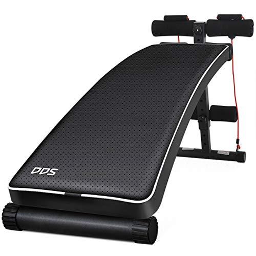 ALUK- Schwarz verstellbare Sit Up AB Bank, Faltbare Decline Bench mit Reverse Crunch Griff für Home Gym Ab Übung (Home Gym Equipment Bench)