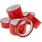 PrimeMatik – Cinta Adhesiva roja para precintadora Cierra Bolsas de plástico 24-Pack