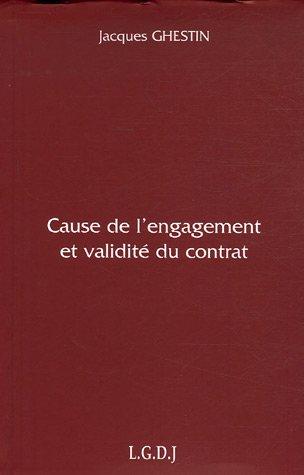 Cause de l'engagement et validité du contrat par Jacques Ghestin