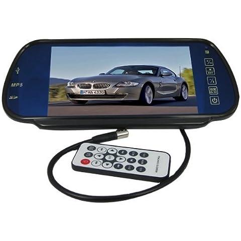 BW - Espejo retrovisor con cámara y pantalla TFT LCD de 7
