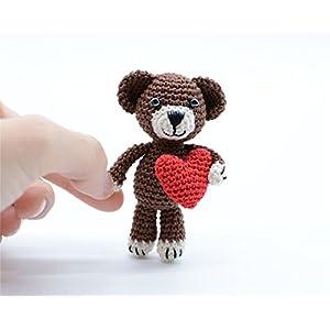 Teddybär Kuscheltier, kleine Amigurumi Häkeln, selbstgemachte Geschenke