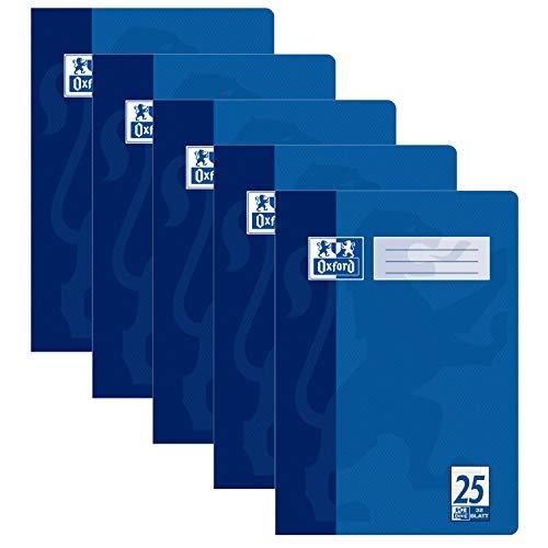 5er Pack Oxford Schule Schulheft DIN A4 16 Blatt Lineatur 25 liniert mit einem Rand