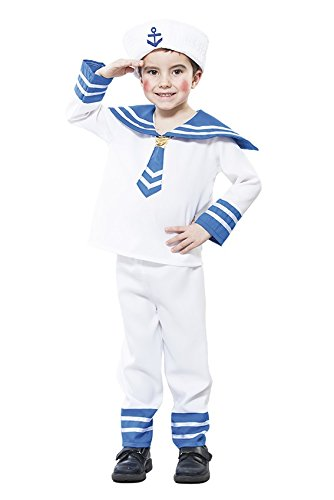 KINDERKOSTÜM - MATROSE - Größe 92-104 cm, Hafenfest Kapitän Sailor Matrosen Seemann Marine Boy (Kostüme Sailor Für Jugendliche)