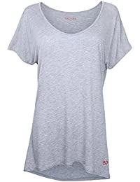 Sundried Womens Loose Fit Yoga Gym Training T-Shirt by Ethical Activewear Designer Relaxed Baggy Ultra Soft Luxury