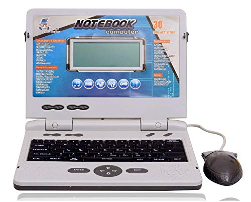 TOY GARRAGE Latest 30 Fun Activities & Games Fun Laptop Notebook Computer Toy for Kids Educational Kids Laptop/Notebook/Computer with 30 Fun Activities with Music Keyboard