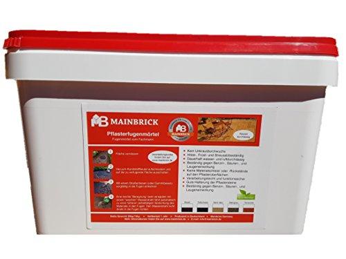 Mainbrick Pflasterfugenmörtel Fix-Fertig Fugenmörtel Tiefschwarz 20 kg - Kein Unkraut, Wasserdurchlässig,