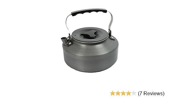 NGT Lightweight 0.8 Litre Gun Black Metal Cooking Saucepan /& Lid Camping Fishing