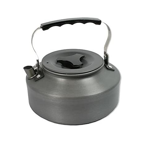 41E98WOaJiL. SS500  - NGT Unisex's Lightweght Folding Handle Carp Coarse Fishing Aluminium Kettle, Gunmetal, 1.1 Litre