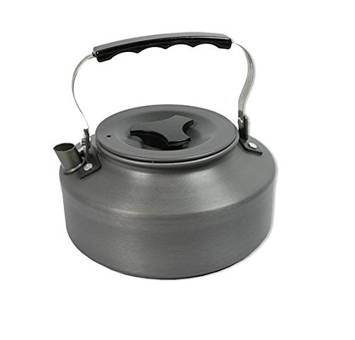 41E98WOaJiL - NGT Unisex's Lightweght Folding Handle Carp Coarse Fishing Aluminium Kettle, Gunmetal, 1.1 Litre
