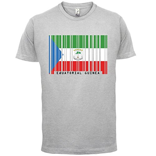 Equatorial Guinea Barcode Flagge / Äquatorialguinea Barcode Flagge - Herren T-Shirt - 13 Farben Hellgrau