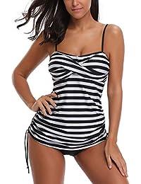 TIFIY Damen Bikini Strandkleid L/ässige Rock tr/ägerloses Cover Up Badebekleidung Badeanzug