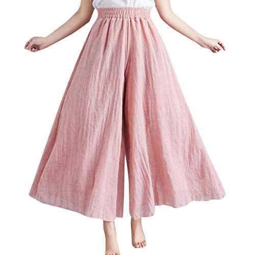 Setsail Damen beiläufige Feste Ausdehnungs-hohe Taillen-lose Hosen normal ausgestellte Mode Lange Sporthosen -