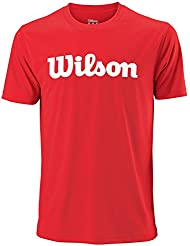 Wilson Sport Mens 2018 UWII Script Tech T Shirt - Red/White - L