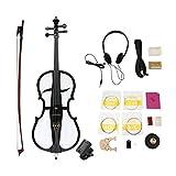 Funnyrunstore Professional Violoncelle pour violoncelle électrique en bois massif, taille 4/4, avec accordeur, housse pour casque, instruments à cordes