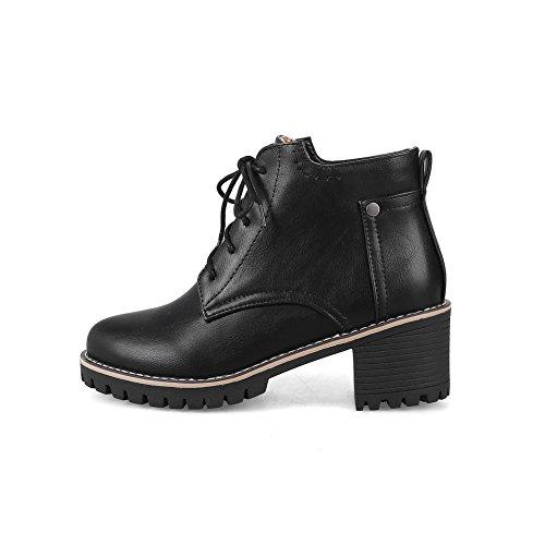 An Andku01810 - Sandales Compensées Noires Pour Femmes