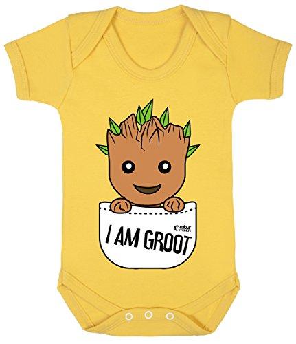 Sonnenblume Baby Kostüm - Colour Fashion Groot Im Tasche Superheld Lustig Kostüm Baby Body 100% Cotton 0-24 - Sonnenblume, 12-18 Months