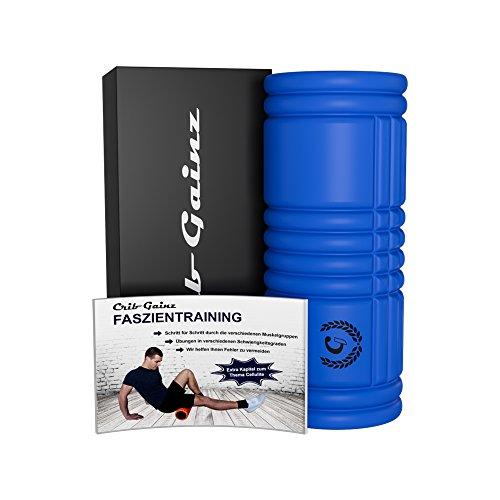 CRIB GAINZ Faszienrolle - Schaumstoffrolle - Massagerolle - inklusive Übungshandbuch - optimale Selbstmassage, Gesundheit und lösen von Verspannungen