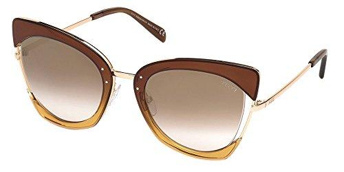 Occhiali da sole emilio pucci ep0074 brown dark yellow/brown shaded donna