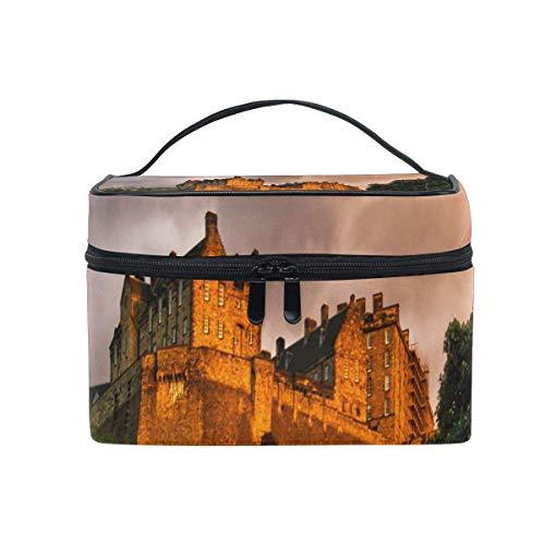 Tragbare hängende Make-up Kosmetiktasche Tasche,Makeup Bag Autumn In Edinburgh Cosmetic Bag Portable Large Toiletry Bag for Women/Girls Travel