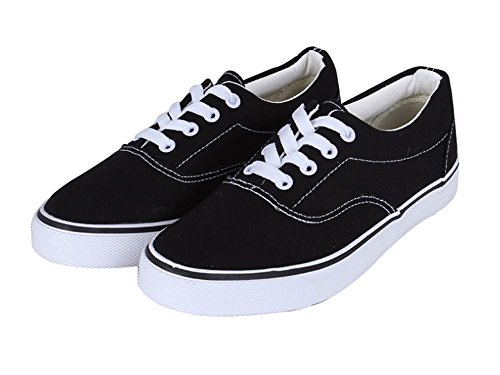 Wealsex damen Unisex canvas Sneaker Schwarz