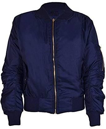 Nouvelles Filles Zip Bomber Jacket Vintage Avec Poches pour les 7-8, 9-10, 11-12, 13-14 et 15-16 ans (9-10, Bleu Marin)