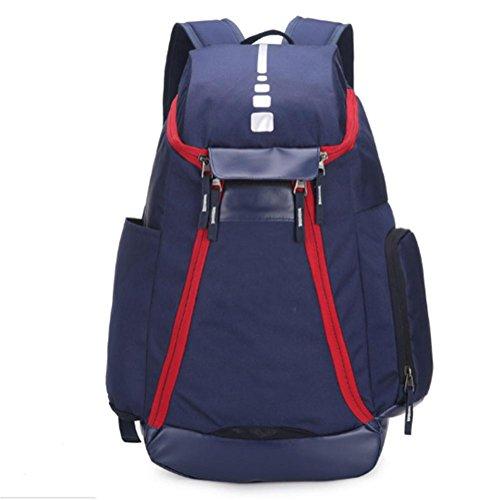 Outdoor borsa sportiva, zaino, nylon impermeabile, Oxford, di grande capacità, borse cerniera superiore, 40L , white blue