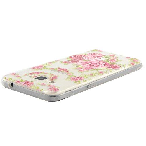 Voguecase® Per Apple iPhone 5C, Custodia fit ultra sottile Silicone Morbido Flessibile TPU Custodia Case Cover Protettivo Skin Caso (Lady 06) Con Stilo Penna Pink Peony