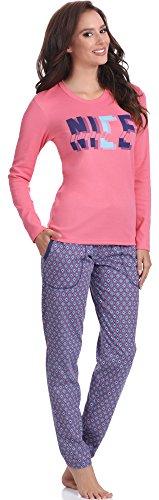 Italian Fashion IF Damen Schlafanzug M007 Rosa