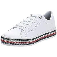 حذاء رياضي بتصميم مرصع بحلي تومي للنساء من تومي هيلفجر, (أبيض (أبيض)), 39 EU