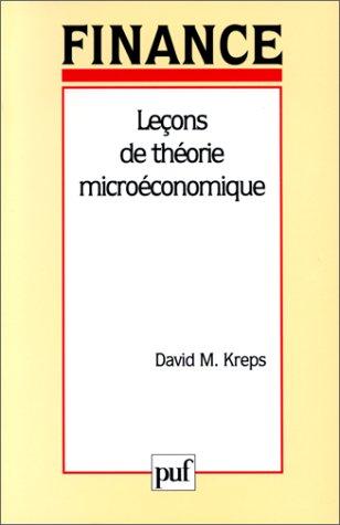 Leçons de théorie microéconomique par David-M. Kreps