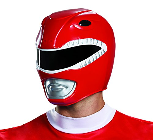 Adult Ranger Power Kostüm - Disguise Adult Red Ranger Helmet Standard
