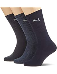Calcetines deportivos unisex de Puma, pack de 3 Azul azul
