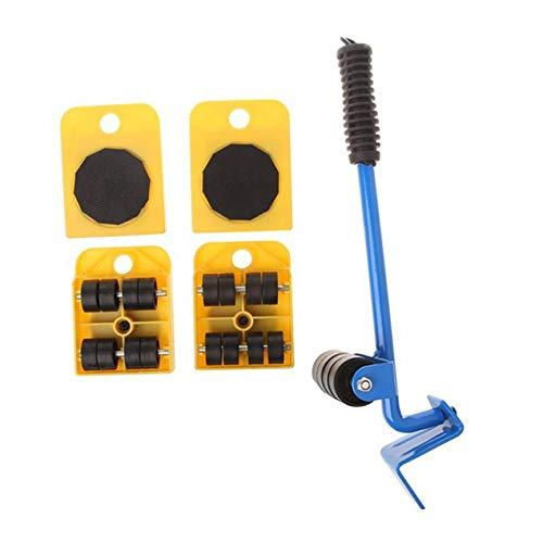 Set 5-teiliges Set Kunststoff Mover Gelber Absatz - Gelb ()