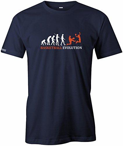 Basketball Evolution - Herren T-Shirt in Navy by Jayess Gr. L (Für Basketball-t-shirts Männer)