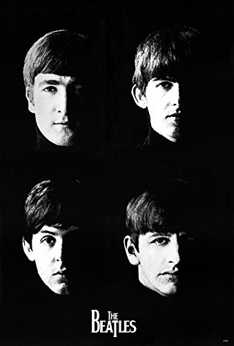 The Beatles Black White Art XL Poster, A1, ca. 58 x 87 cm -