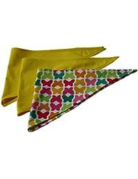 Fitzibiz, 3er set Dreieckstücher Schmetterlinge, Baumwolle, gelb, Schmetterlinge, 54x22cm