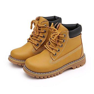 KeKaFu Girl's Boots Fall Winter Comfort Snow Boots PU Dress Casual Flat HeelYellow