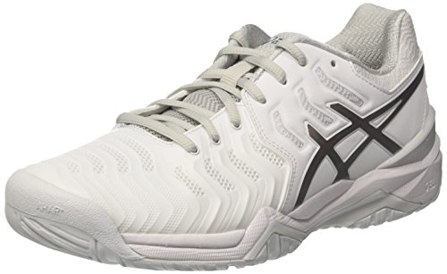 Asics Gel-Resolution 7, Scarpe da Tennis Uomo, Bianco (White / Silver), 44.5 EU